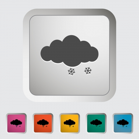 Snow  Single icon illustration  Vector