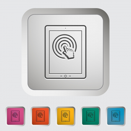 Tablet PC  Single icon illustration Stock Vector - 21528752
