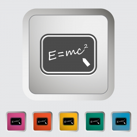 E = mc2. Single icon.
