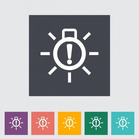 Exterior bulb failure. Single flat icon. Stock Vector - 21686625