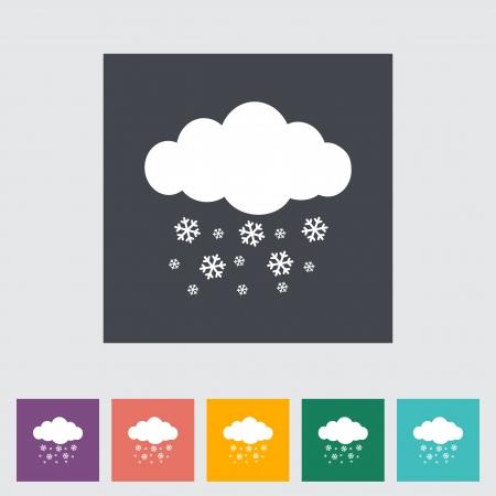 meteorologist: Snowfall single icon. Illustration