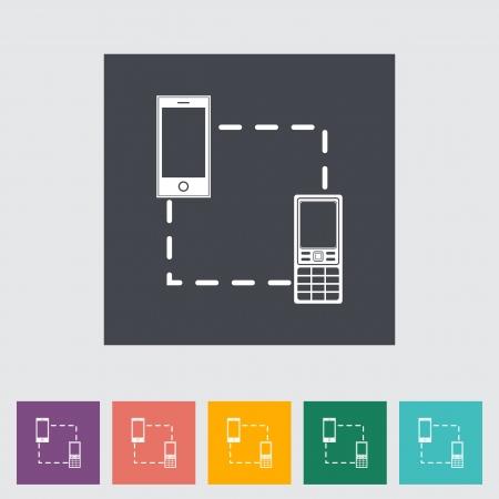 sync: Phone sync single icon.