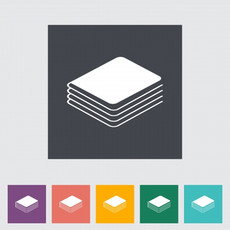 Book. Single flat icon.  Vector