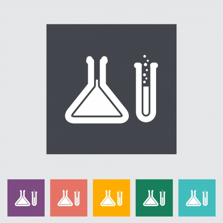 Chemisty. Single flat icon. Vector
