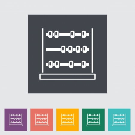 Abacus. Single flat icon.  Vector