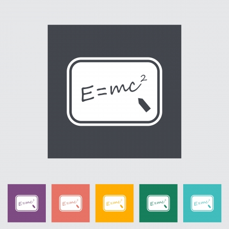 mc2: E = mc2. Single flat icon.  Illustration
