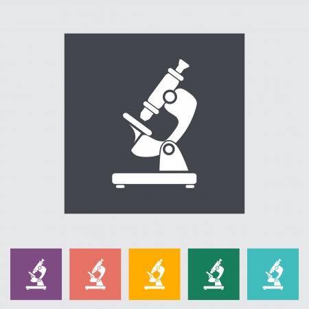 Microscope. Single flat icon. Illustration