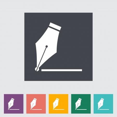 nib: Nib. Single flat icon.  Illustration