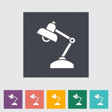Reading-lamp. Single flat icon. Stock Vector - 21686805