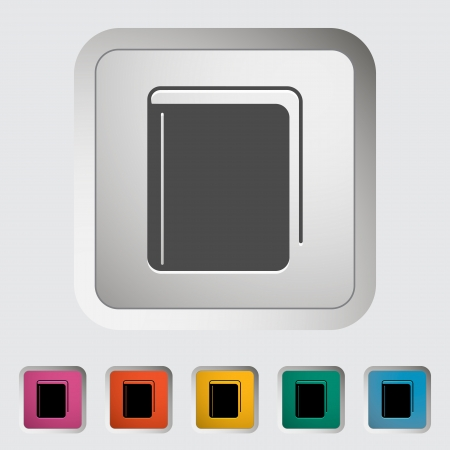 Book. Single icon. Stock Vector - 22011365