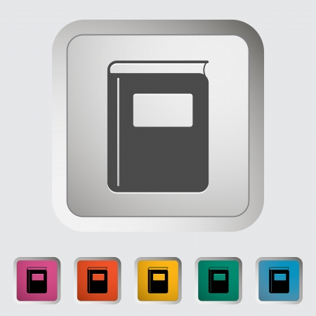 Book. Single flat icon. Vector illustration. Vector