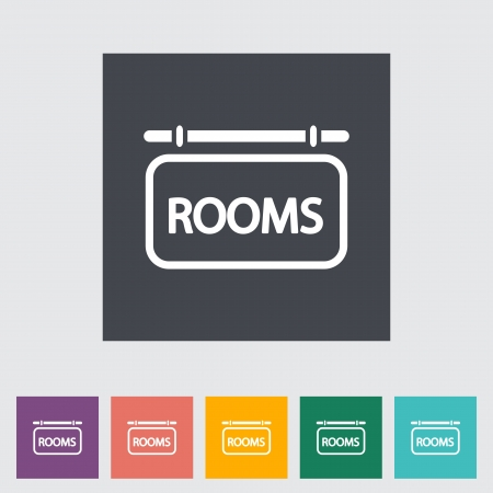 Hotel. Single flat icon. Vector illustration. Vector