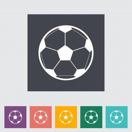traits: Soccer ball. Single icon. Vector illustration.. Illustration