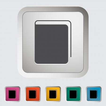 Book. Single flat icon. Vector illustration. Stock Vector - 22545062