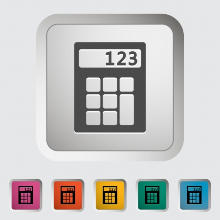 maths department: Calculator icon. Vector illustration.