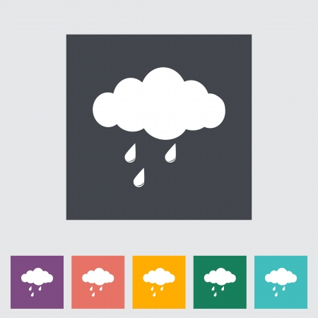 Rain. Single icon. Vector illustration. Vector