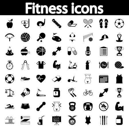 Professiona fitnessl icons for your website. Vector illustration. Vector