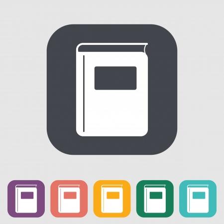 Book. Single flat icon. Vector illustration. Stock Vector - 22545098