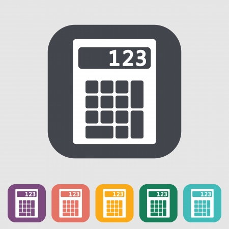 maths department: Calculator single flat icon. Vector illustration. Illustration