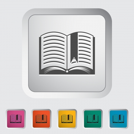 Book. Single flat icon. Vector illustration. Stock Vector - 22545114