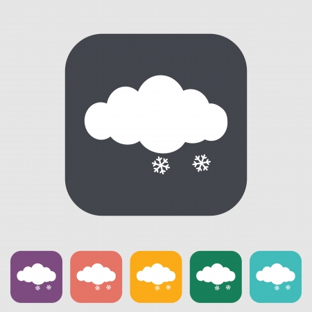 Snow. Single icon. Vector illustration. Vector