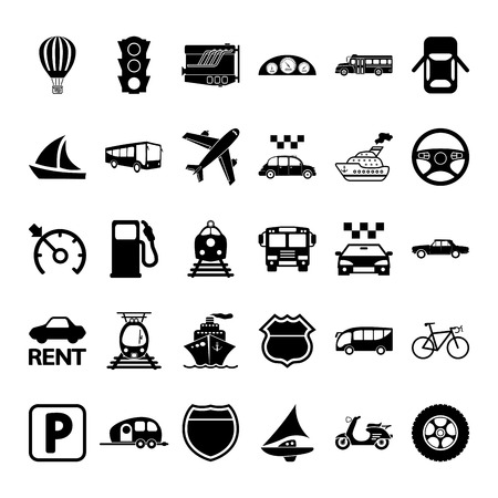 Transportation icon set. Vector illustration. Vector