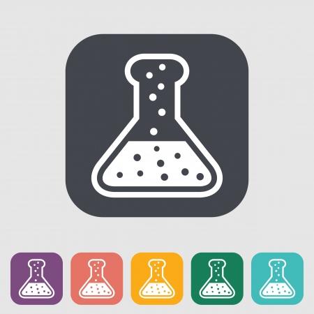 organic fluid: Chemisty. Single flat icon. Vector illustration. Illustration