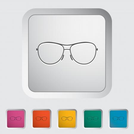 Sunglasses. Single icon. Vector illustration. Stock Vector - 23123957