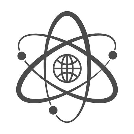 Globe with orbits. Single icon. Vector illustration. Stock Vector - 23680721