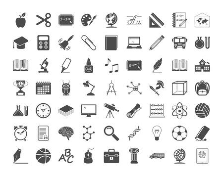 Education icons. Vector illustration..