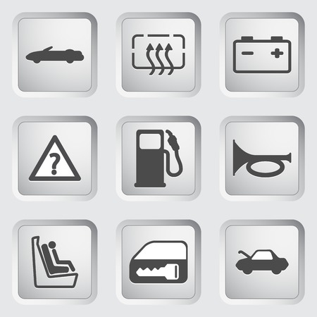 Icons for the control panel of the car 2. Vector illustration. Vector