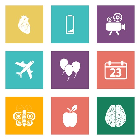 Icons for Web Design and Mobile Applications set 2. illustration. Vector