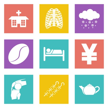 winter barbecue: Icons for Web Design and Mobile Applications set. illustration.