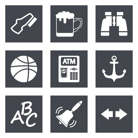 windshield wiper: Icons for Web Design and Mobile Applications set 4. Vector illustration.