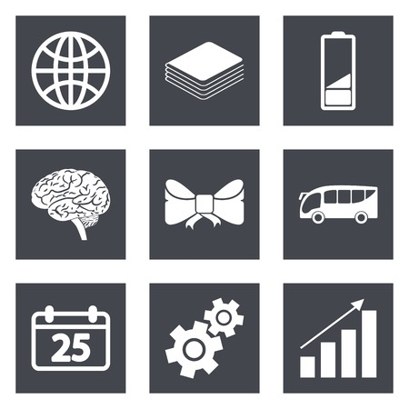 Icons for Web Design and Mobile Applications set 5. Vector illustration. Vector