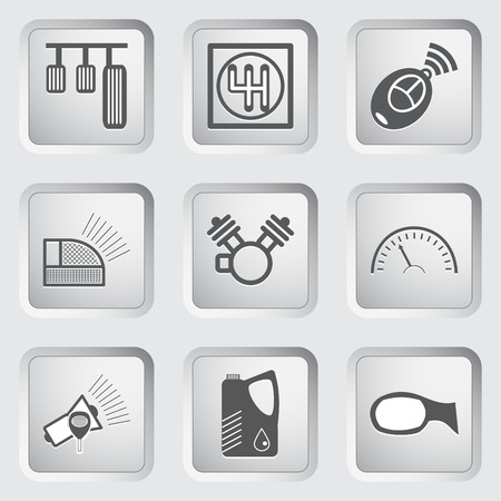 Car part and service icons set 6. Vector illustration. Vector