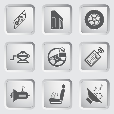 Car part and service icons set 5. Vector illustration. Vector