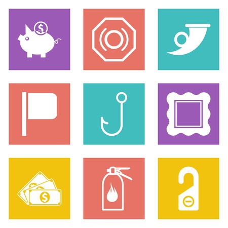 Icons for Web Design and Mobile Applications set 14. Vector illustration. Vector