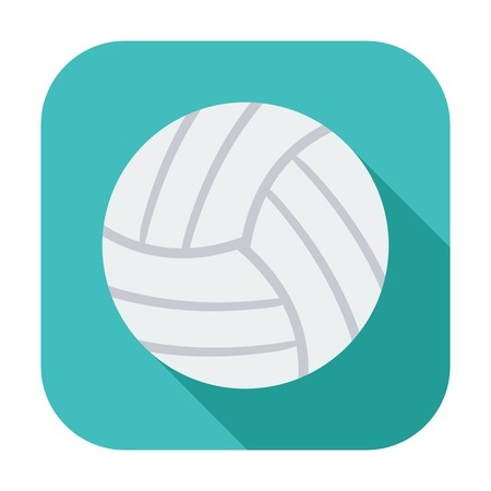 Volleyball. Single color flat icon. Vector illustration. Vector
