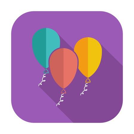 latex: Ballon. Single flat icon on the button. Vector illustration.