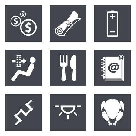 air filter: Icons for Web Design and Mobile Applications set 16. Vector illustration.