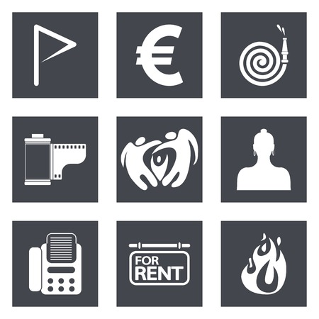 Icons for Web Design and Mobile Applications set 18. Vector illustration. Vector