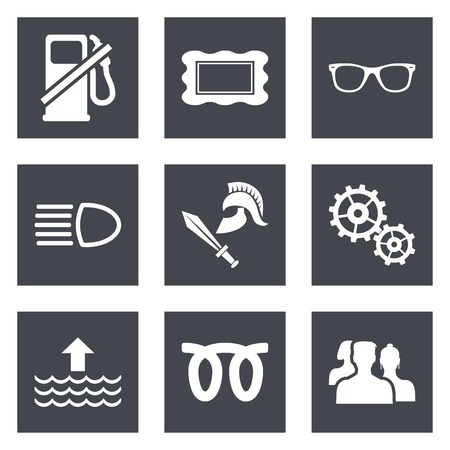 Icons for Web Design and Mobile Applications set 19. Vector illustration. Stock Vector - 26537228