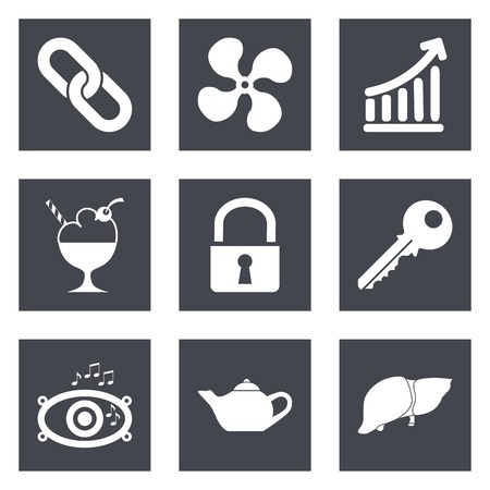 Icons for Web Design and Mobile Applications set 20. Vector illustration. Stock Vector - 26537234