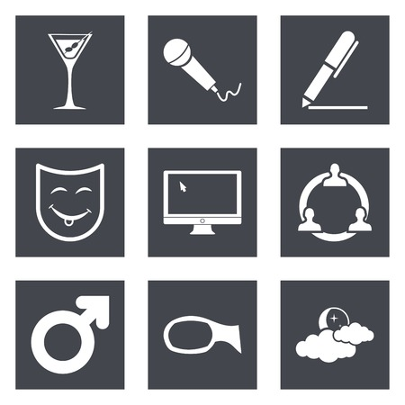 theather: Icons for Web Design and Mobile Applications set 21. Vector illustration. Illustration