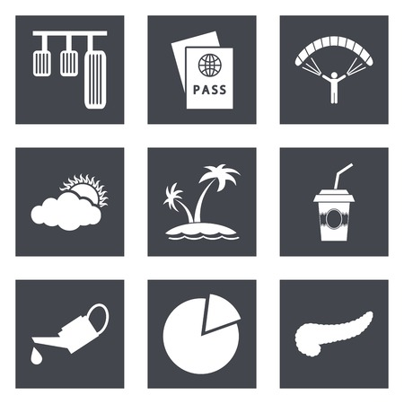 Icons for Web Design and Mobile Applications set 22.  Vector