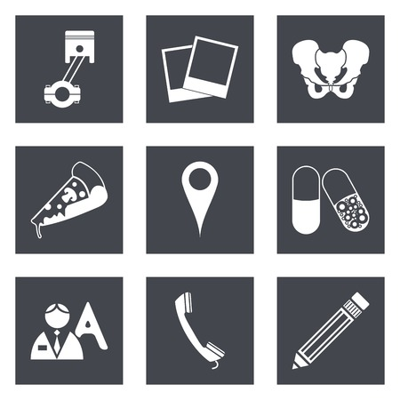 Icons for Web Design and Mobile Applications set 23.  Vector