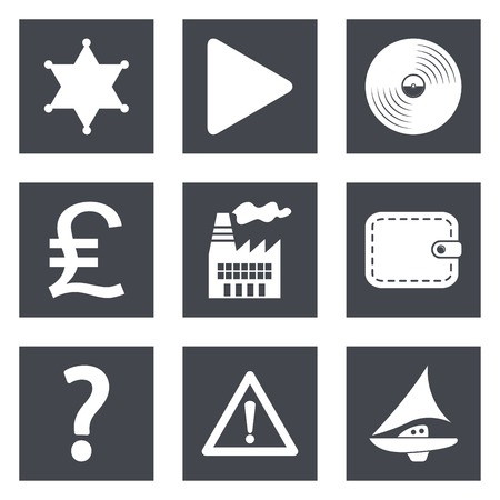 Icons for Web Design and Mobile Applications set 24.  Vector