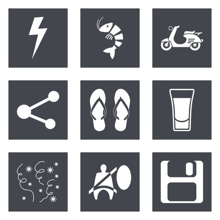 Icons for Web Design and Mobile Applications set 27. Vector illustration. Vector