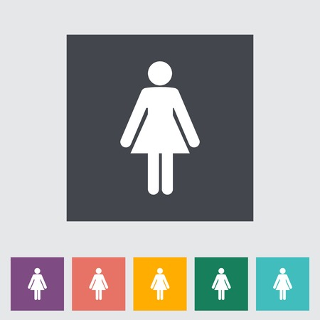 Female gender sign. Vector